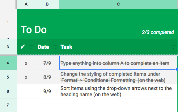 organize your entire life using google sheets