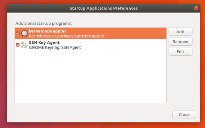 limit startup apps to speed up gnome