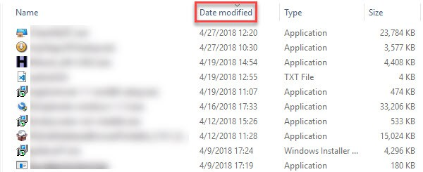 Windows Sort Downloads By Name