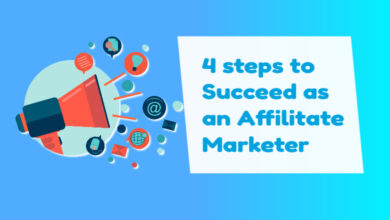 4 steps to succeed as an affiliate marketer