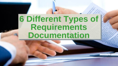 6 different types of requirement Documentation