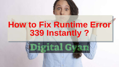 how to fix runtime error 339 instantly