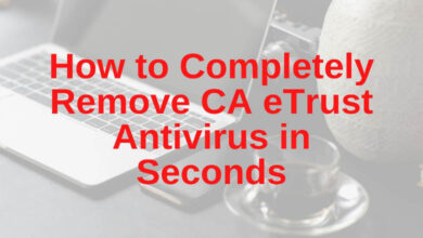 how to completely remove ca etrust