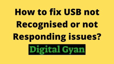 How to fix USB not Recognised or not Responding issues